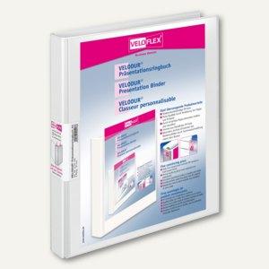 Präsentationsringbücher VELODUR, DIN A4, 4 Rund-Ringe Ø 15 mm, weiß, 15 Stück, 4