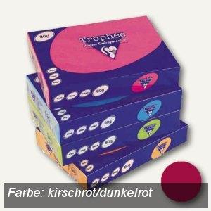 Papier Trophee Intensiv, DIN A4, 120g/m², kirschrot/dunkelrot, 1218C