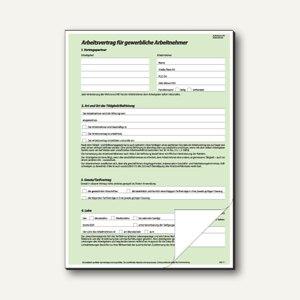Sigel Anstellungs-/Arbeitsvertrag gewerblich, 2 x 2 Blatt, 25 Stück, AV422