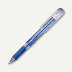 Pentel Hybrid Gel-Tintenroller Grip DX Metallic, 0.5 mm, metallic-blau, K230-MC