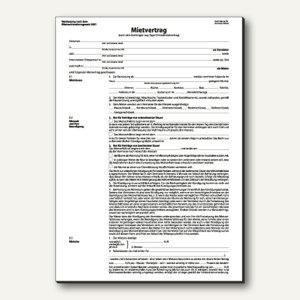 Einheitsmietvertrag DIN A4 4seitig 25 Sätze á 2 Blatt