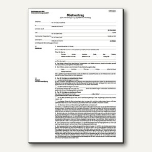 Einheitsmietvertrag DIN A4 6-seitig 25 Sätze à 3 Blatt