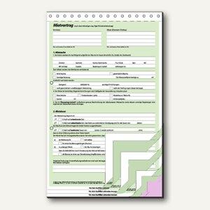 Sigel Mietvertragssatz komplett, durchschreibend DIN A4 25 Sätze á 4 Blatt,MV480