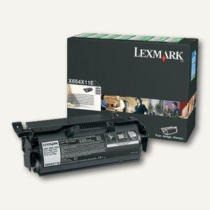 Lexmark Rückgabe-Druckkassette, schwarz, X654X11E