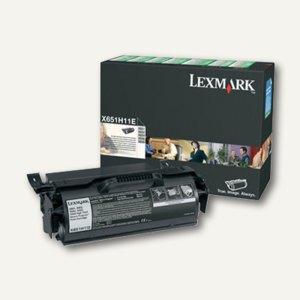 Lexmark Rückgabe-Druckkassette, schwarz, X651H11E