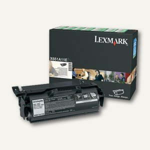 Lexmark Rückgabe-Druckkassette, schwarz, X651A11E