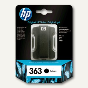 HP Tintenpatrone Nr. 363, 6 ml, schwarz, C8721EE