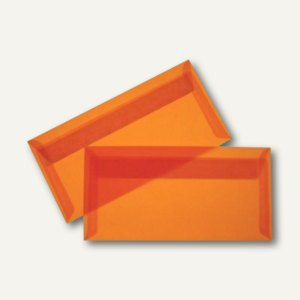 Briefumschlag DIN lang, haftklebend, 100 g/m² transparent-orange, 100 St., 19594