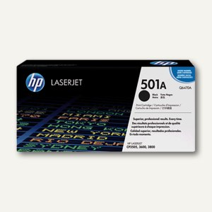 HP Toner Nr. 501A, schwarz - ca. 6.000 Seiten, Q6470A