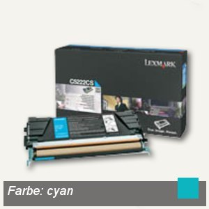Lexmark C52X Toner cyan - ca. 3.000 Seiten, C5222CS