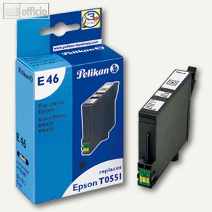 Pelikan E46 Tintenpatrone schwarz 9ml, 351487