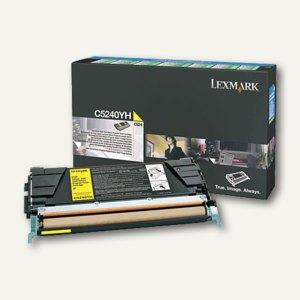 Lexmark C524 Rückgabe-Toner gelb - ca. 5.000 Seiten, C5240YH