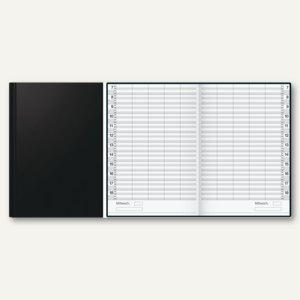 """Buchkalender """"ultraplan"""" - zeitlos, 1 Tag/2 Seiten, 195 x 300 mm, schwarz"""