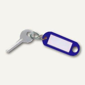 Schlüsselanhänger Kunstststoff mit S-Metallhaken, dunkelblau, 1.000 Stück, 10.50