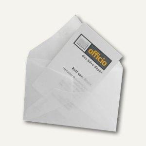 Briefumschlag für Visitenkarten, 62 x 98 mm, nasskl., transparent-klar, 100 St.,