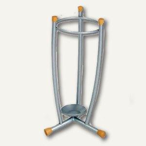 Alco Schirmständer aus Metall/Holz, mit Wasser-Abtropfschale, 60 x 25 cm, 2811