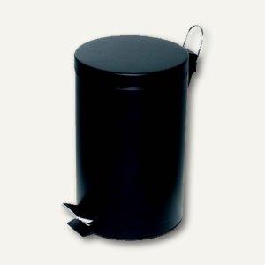 Alco Tretabfalleimer, 12 Liter, Stahlblech, schwarz, 2961-11