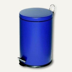 Alco Tretabfalleimer, 20 Liter, Stahlblech, blau, 2962-15