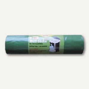 Garten-Abfallsäcke 120l, 700x1.100mm, LDPE-Folie, 60my/extra stark, grün, 5St.,