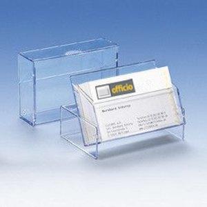 Visitenkartenbox für 100 Visitenkarten, transparent, 300 Stück, 96619-2