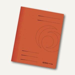 Herlitz Schnellhefter, DIN A4, 240 g/m², Karton, orange, 10902518