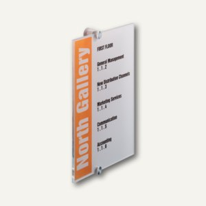 Durable Türschild CRYSTAL SIGN, Acrylglas, 210 x 297 mm, 4825-19