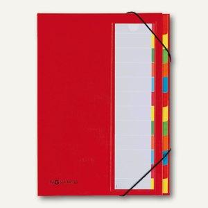 Pagna Ordnungsmappe Deskorganizer, 12 Fächer, Karton, rot, 44133-01