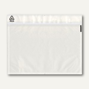 officio Dokumententaschen DIN C6, 50µ, neutral, selbstklebend, 1.000 Stück