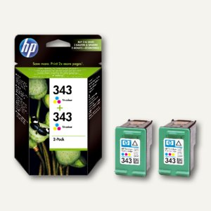 HP Tintenpatronen Nr. 343 color, 2 x 7 ml - Doppelpack, CB332EE