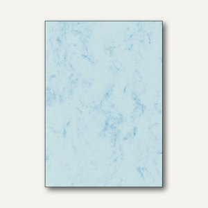 Sigel Marmor-Papier, DIN A4, 90g/m², blau, 100 Blatt, DP261