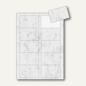 Sigel PC-Visitenkarten 3C, 85x55mm, 225 g/m², grau marmoriert, 100 Stück, DP742