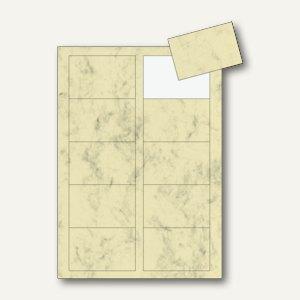 Sigel PC-Visitenkarten 3C, 85x55mm, 225 g/m², beige marmoriert, 100 Stück, DP744