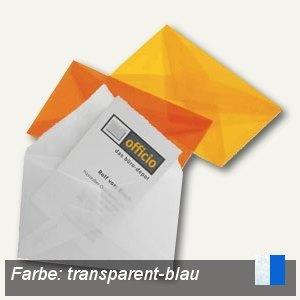 Briefumschlag für Visitenkarten, 62 x 98 mm, nasskl., transparent-blau, 100 St.,