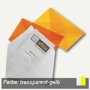 Briefumschlag für Visitenkarten, 62 x 98 mm, nasskl., transparent-gelb, 100 St.,