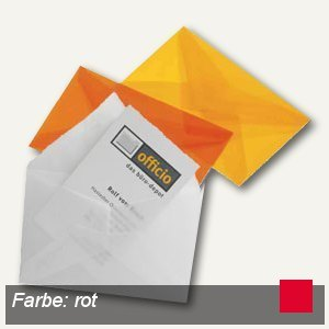 Briefumschlag für Visitenkarten, 62 x 98 mm, nasskl., transparent-rot, 100 St.,