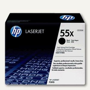HP Toner Nr. 55X, schwarz LaserJet P3015D, 12.500 Seiten, CE255X