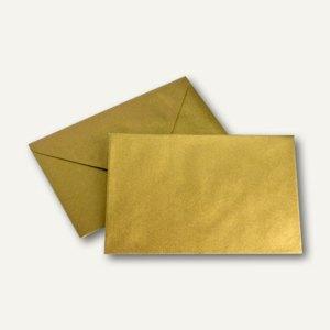 Briefumschlag 120 x 180mm, Seidenfutter gold, nasskleb., 100g/m², 500 St.