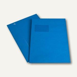 Versandtasche DIN C4, Fenster, haftkl., 120 g/m², königsblau, 250 Stück