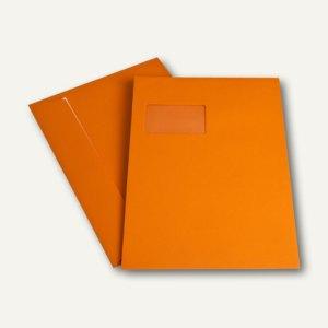 Versandtasche DIN C4, Fenster, haftkl., 120 g/m², orange, 250 Stück