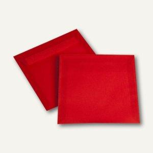 Briefhüllen haftklebend, 170 x 170 mm, transluzent-intensivrot, 500 St.