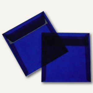 Briefumschlag, 125 x 125mm, haftkl., 100g/m², transparent-blau, 100 St.