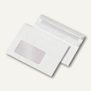 officio Fensterbriefumschlag C6, selbstklebend, 80 g/m², weiß, 1.000 St., 240528