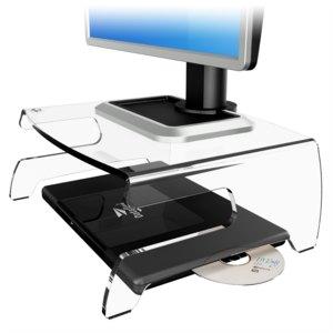 """Dataflex LCD Monitorständer 660, Notebookcenter für bis 17"""", acryl, 44.660"""