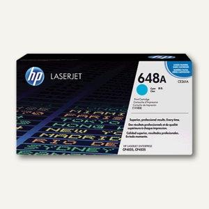 HP Lasertoner Nr. 648A, ca. 11.000 Seiten, cyan, CE261A