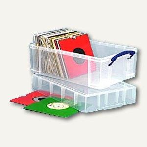Aufbewahrungsbox für Vinyl-Singles, 9l, 335 x 210 x 180 mm, 4 Stück, 9CXL