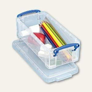 Aufbewahrungsbox 0.9 Liter, 185 x 80 x 60 mm, transparent, 10 Stück, 0.9C
