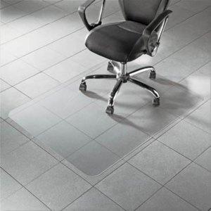 Bodenschutzmatte für Hartböden, 120 x 90 cm, transparent, Polycarbonat, 1110