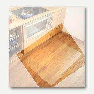 Bodenschutzmatte für Hartböden, 120 x 100 cm, transparent, Polycarbonat, 1115