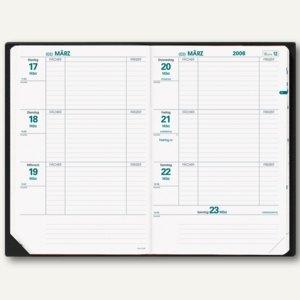 Lehrerkalender Texthebdo - 16 x 24 cm, 1 Woche/2 Seiten, schwarz, 296033Q