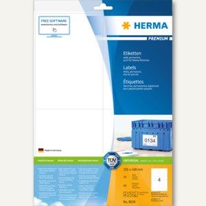 Herma Universal-Etiketten PREMIUM, 105 x 148 mm, weiß, 200 Stück, 8630